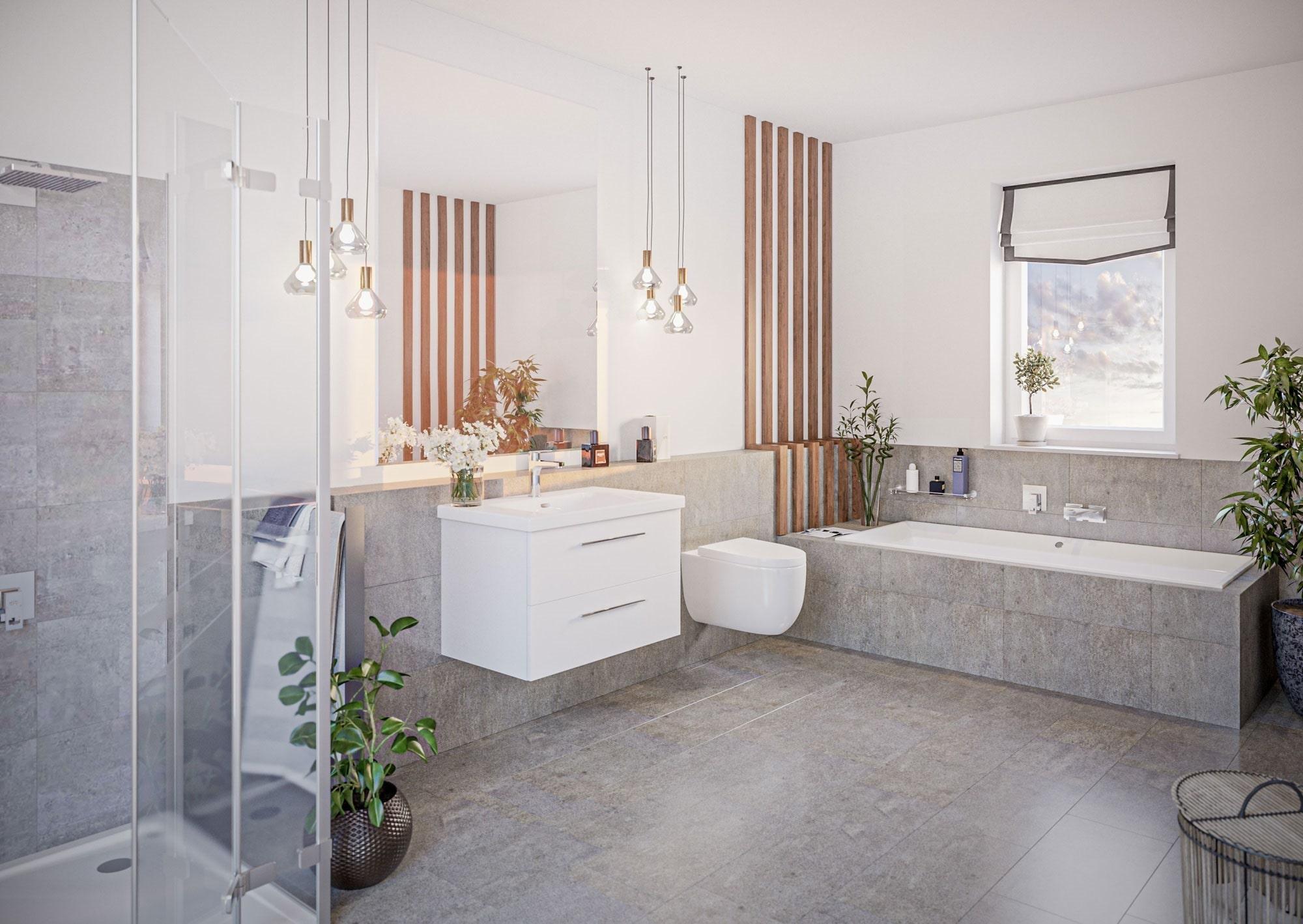 Innenvisualisierung Badezimmer