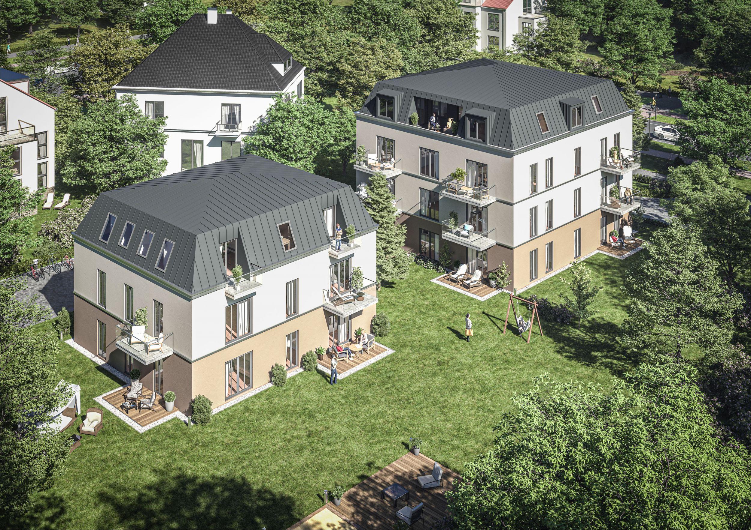 Aussenansicht Vogelperspektive - Dresden: Exklusive Eigentumswohnungen - Dresden